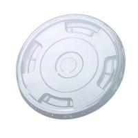 Couvercle PET transparent plat avec trou 0ml