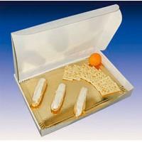 Groothandel lunchbox karton bruin wit  435x335mm H60mm