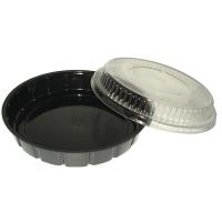 Plastic PS salade schaal rond zwart 600ml Ø210mm  H30mm