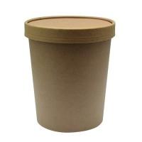 Kraft/brown cardboard cup with cardboard lid 710ml Ø115mm  H116mm