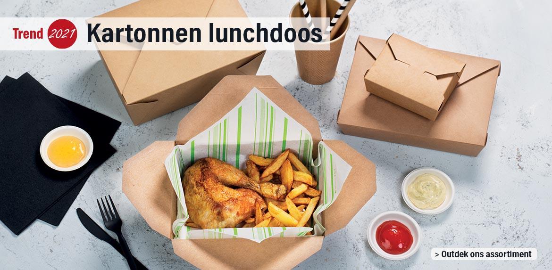 Trend 2021 : Kartonnen lunchdoos